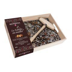 Tablette à casser au chocolat noir, format gourmand