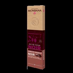 Monbanette chocolat noir fourée ganache chocolat noir
