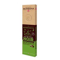 Monbanette chocolat noir fourrée praliné noisettes