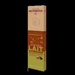 Monbanette chocolat au lait praliné pistache