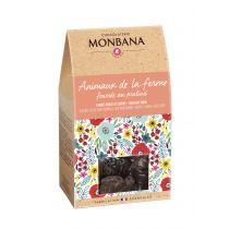 Animaux de la ferme fourrés au praliné - chocolat noir