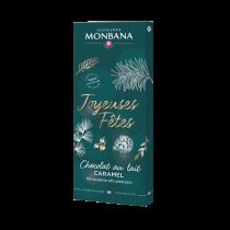 """Tablette """"Joyeuses Fêtes"""" chocolat au lait caramel"""
