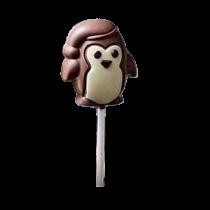 Sucette pingouin chocolat au lait